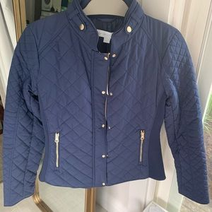 Blue Quilted New York & Co Jacket